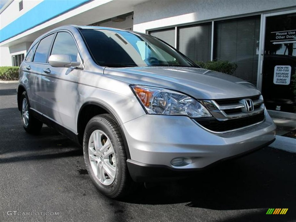 2011 CR-V EX-L - Alabaster Silver Metallic / Gray photo #1
