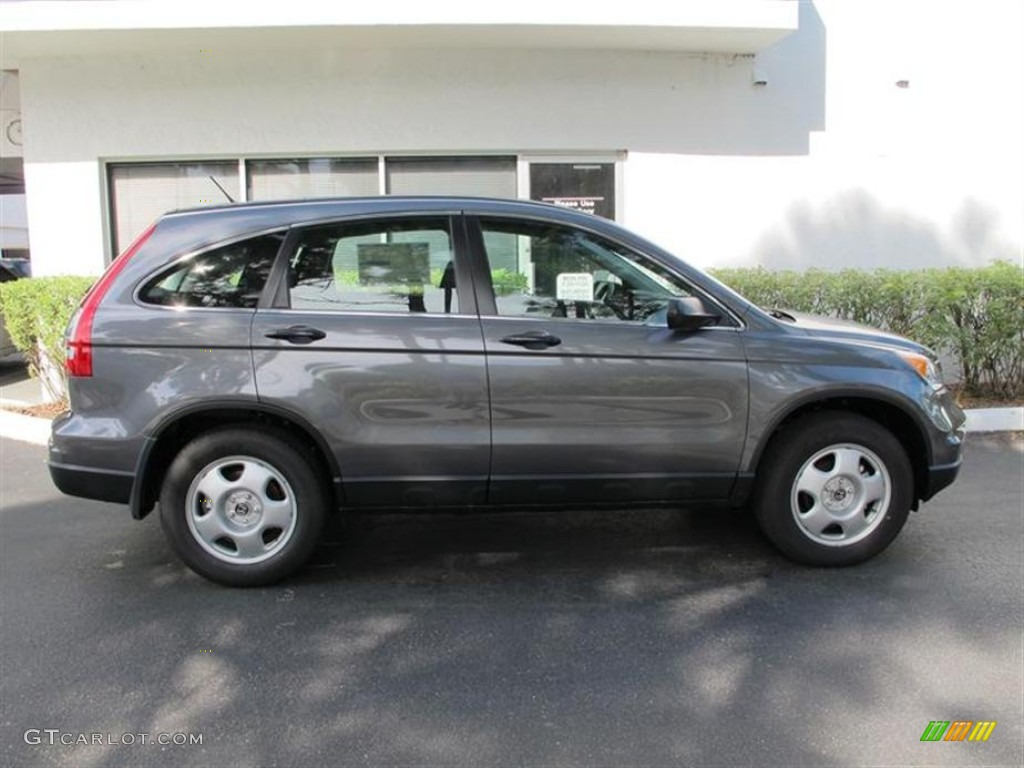 2011 CR-V LX - Polished Metal Metallic / Black photo #2