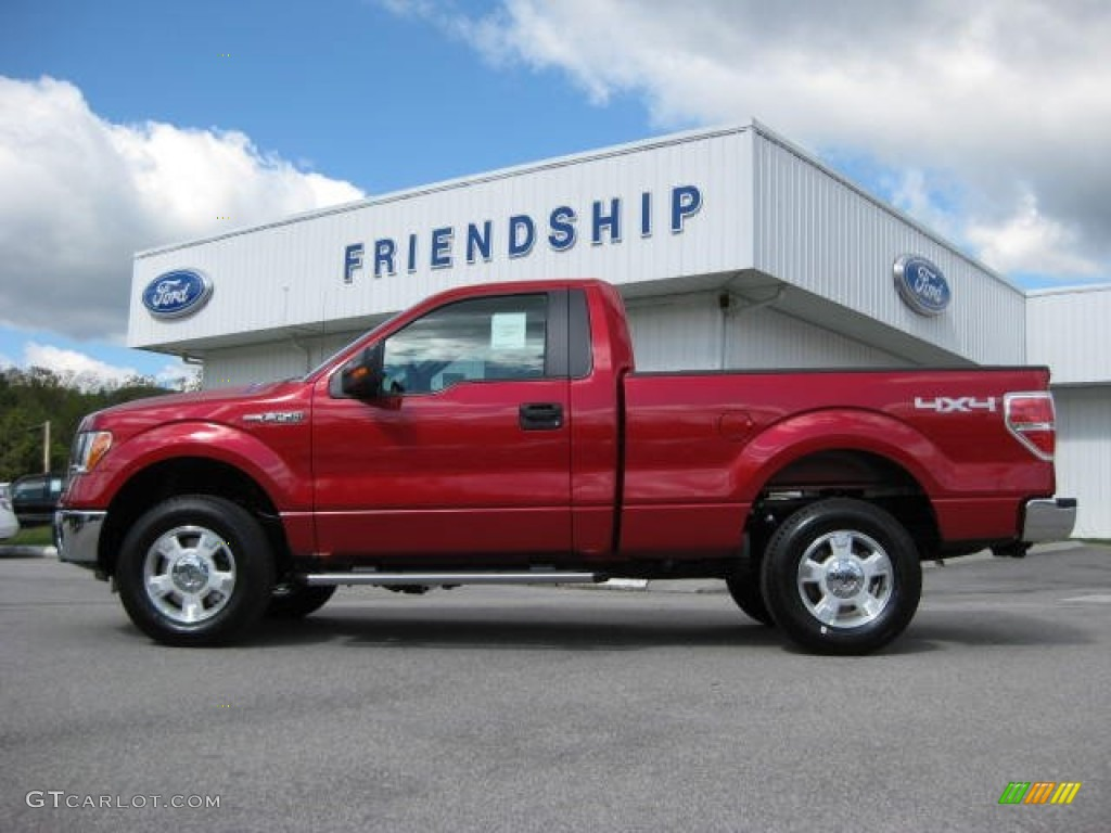 2011 red candy metallic ford f150 xlt regular cab 4x4 54809613 car color galleries. Black Bedroom Furniture Sets. Home Design Ideas