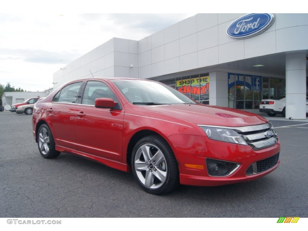2011 Fusion Sport - Red Candy Metallic / Sport Black/Charcoal Black photo #1