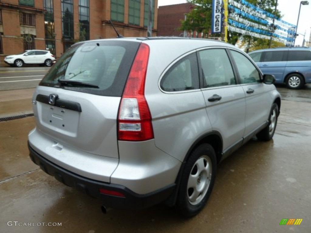 2009 CR-V LX 4WD - Alabaster Silver Metallic / Gray photo #4