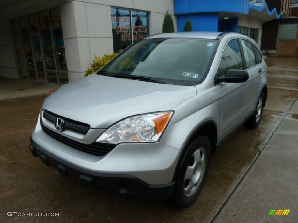 2009 CR-V LX 4WD - Alabaster Silver Metallic / Gray photo #11