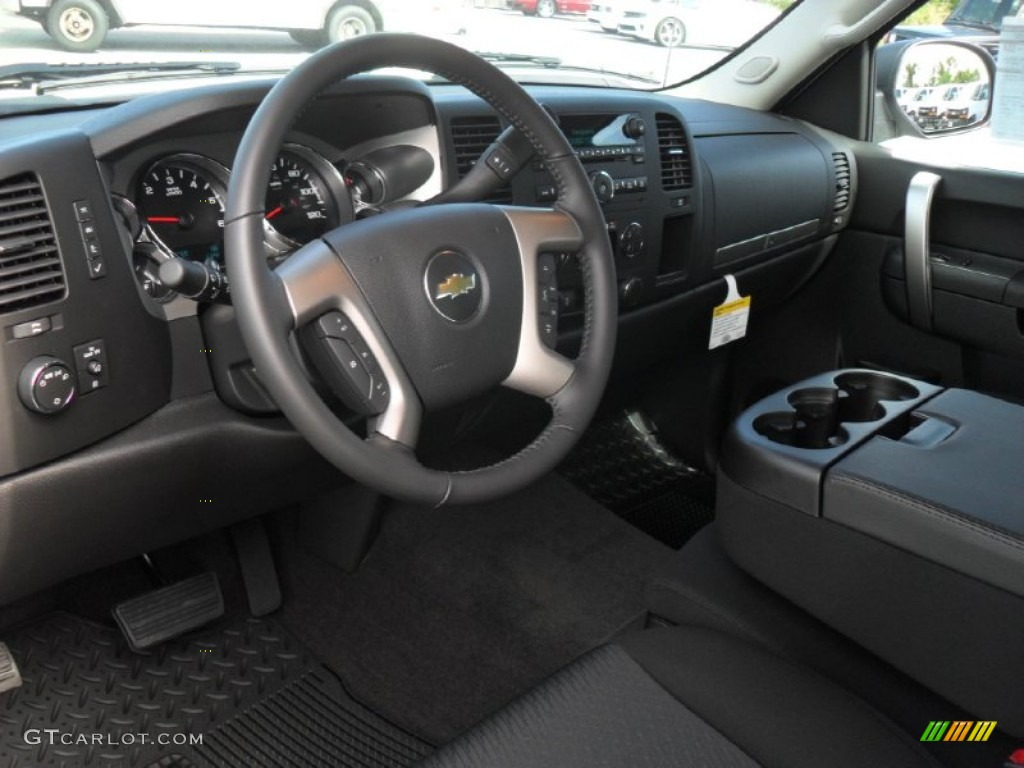 Ebony Interior 2012 Chevrolet Silverado 1500 Lt Extended Cab Photo 54841285