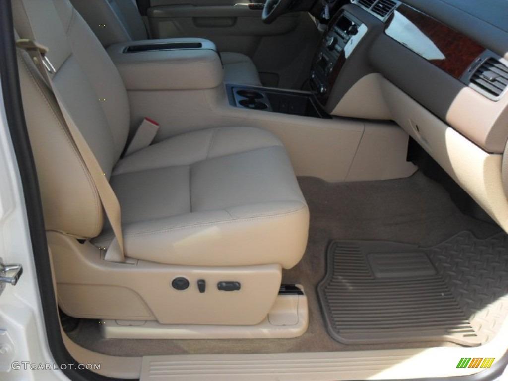 2012 Silverado 1500 LTZ Crew Cab 4x4 - White Diamond Tricoat / Light Cashmere/Dark Cashmere photo #19