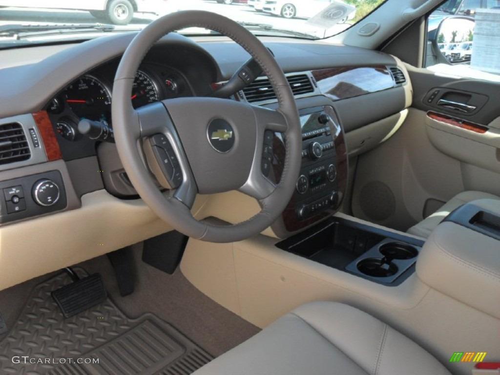 2012 Silverado 1500 LTZ Crew Cab 4x4 - White Diamond Tricoat / Light Cashmere/Dark Cashmere photo #25