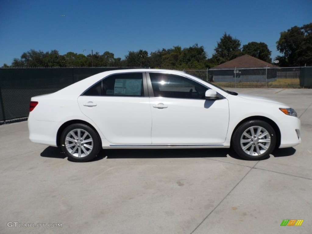 super white 2012 toyota camry xle v6 exterior photo 54854611. Black Bedroom Furniture Sets. Home Design Ideas