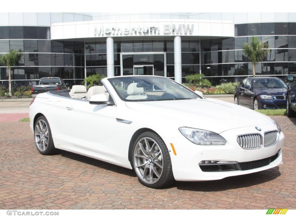 Alpine White 2012 Bmw 6 Series 650i Convertible Exterior