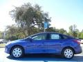 2012 Sonic Blue Metallic Ford Focus SE Sedan  photo #2