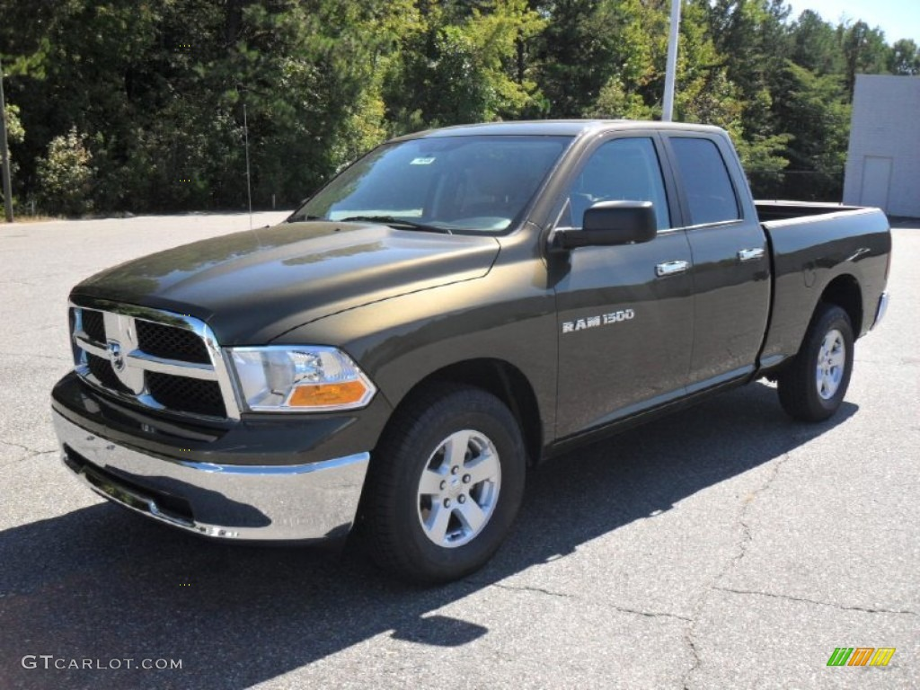 2012 Ram 1500 SLT Quad Cab - Sagebrush Pearl / Light Pebble Beige/Bark Brown photo #1