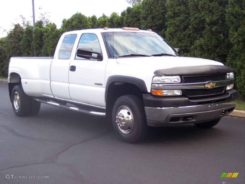 2002 summit white chevrolet silverado 3500 ls extended cab dually 54851222 car. Black Bedroom Furniture Sets. Home Design Ideas