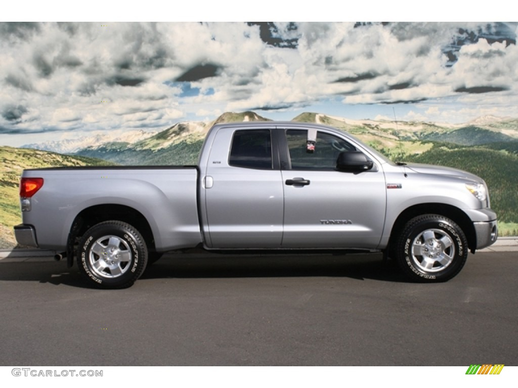silver sky metallic 2009 toyota tundra sr5 double cab 4x4 exterior photo 54904547. Black Bedroom Furniture Sets. Home Design Ideas