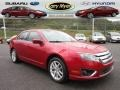 2011 Red Candy Metallic Ford Fusion SEL V6 AWD  photo #1