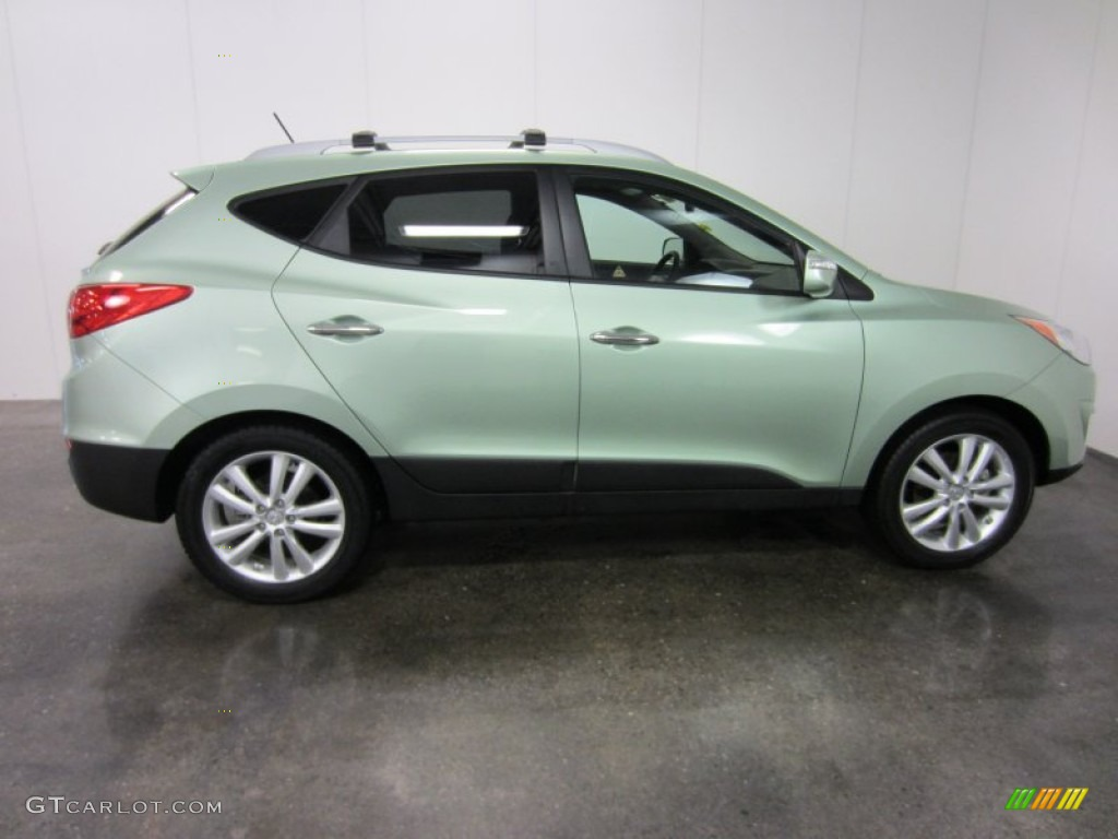 kiwi green 2011 hyundai tucson gls awd exterior photo. Black Bedroom Furniture Sets. Home Design Ideas