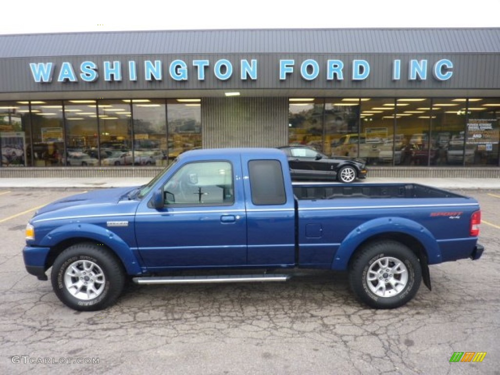 2010 vista blue metallic ford ranger sport supercab 4x4. Black Bedroom Furniture Sets. Home Design Ideas