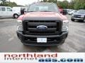 2012 Vermillion Red Ford F250 Super Duty XL SuperCab 4x4  photo #3