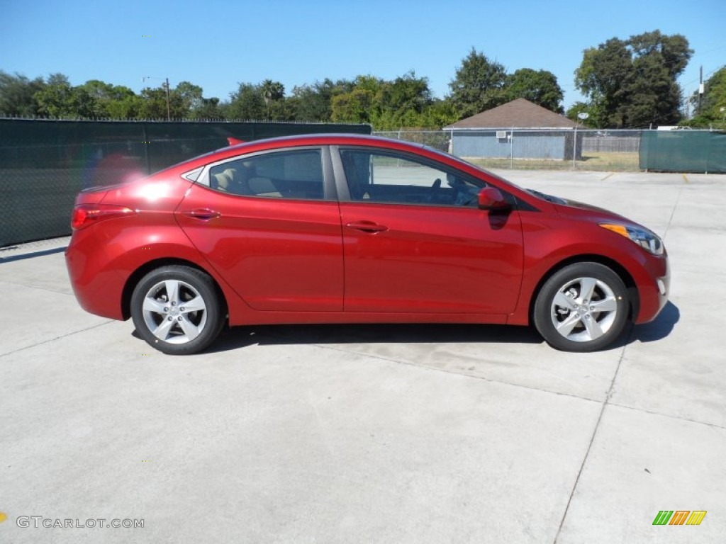 Red Allure 2012 Hyundai Elantra Gls Exterior Photo