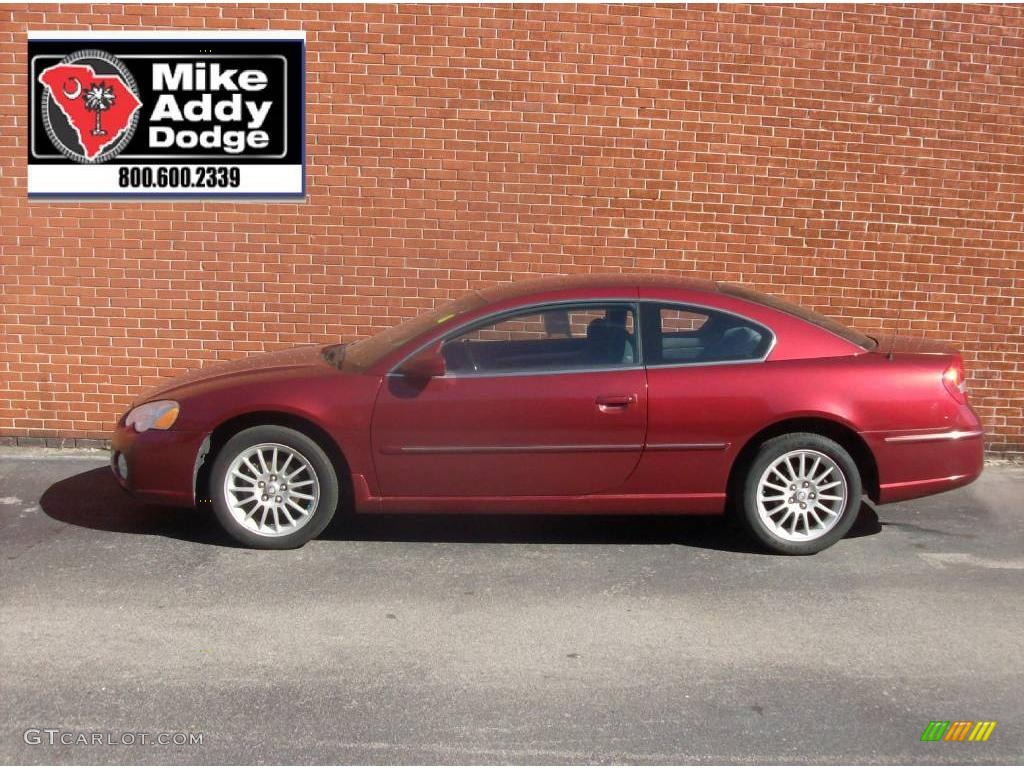 2004 deep red pearl chrysler sebring limited coupe. Black Bedroom Furniture Sets. Home Design Ideas