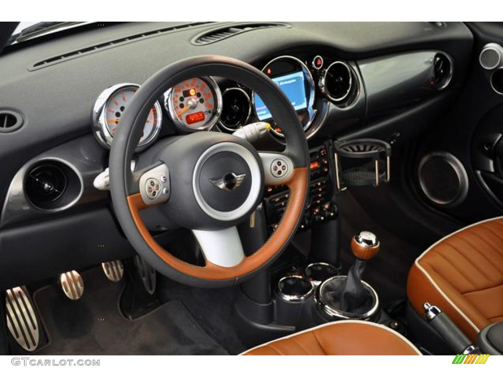 2008 Mini Cooper S Convertible Sidewalk Edition Malt Brown English Leather Dashboard Photo 54986884