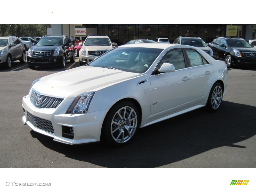 2012 White Diamond Tricoat Cadillac Cts V Sedan 54963894
