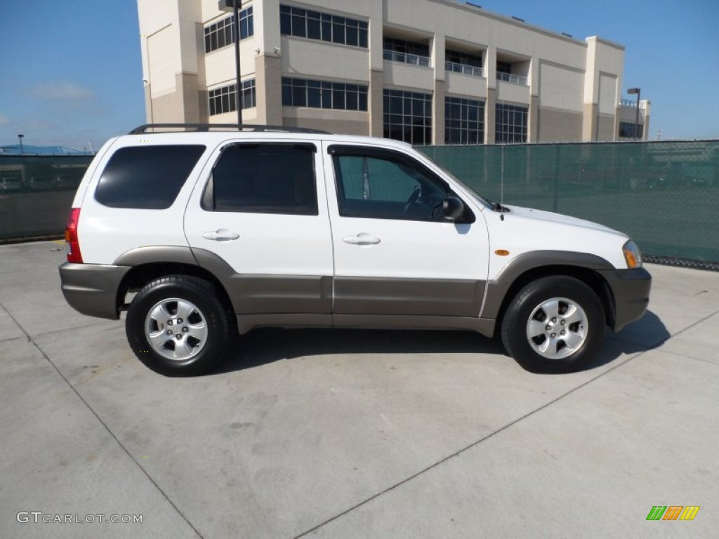 classic white 2004 mazda tribute lx v6 exterior photo. Black Bedroom Furniture Sets. Home Design Ideas