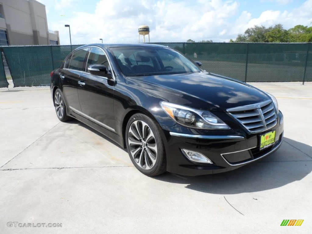 2012 black noir pearl hyundai genesis 5 0 r spec sedan 54963816 car color. Black Bedroom Furniture Sets. Home Design Ideas