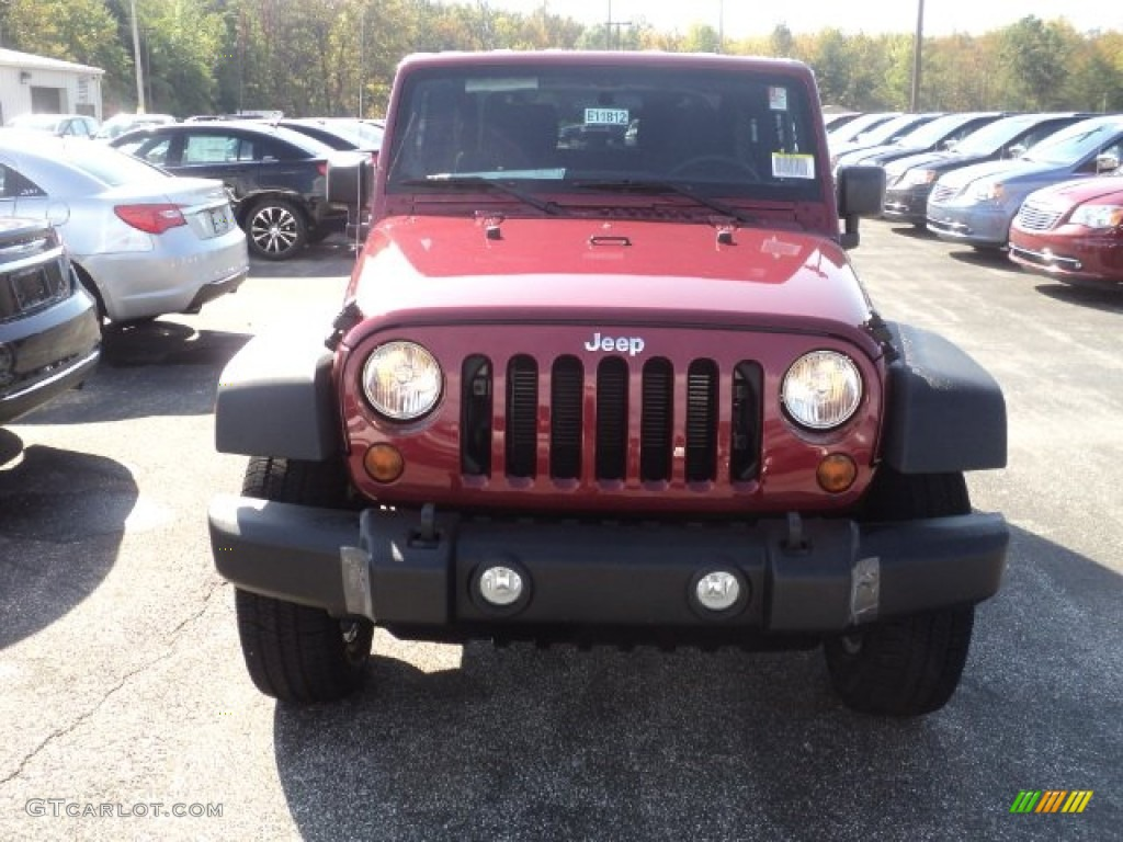 2012 Wrangler Sport S 4x4 - Deep Cherry Red Crystal Pearl / Black photo #2