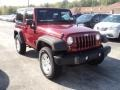 2012 Deep Cherry Red Crystal Pearl Jeep Wrangler Sport S 4x4  photo #3