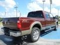 2012 Autumn Red Metallic Ford F250 Super Duty Lariat Crew Cab 4x4  photo #3
