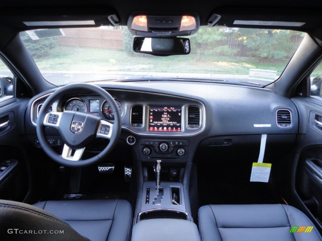 Black Mopar Blue Interior 2011 Dodge Charger R T Mopar 11