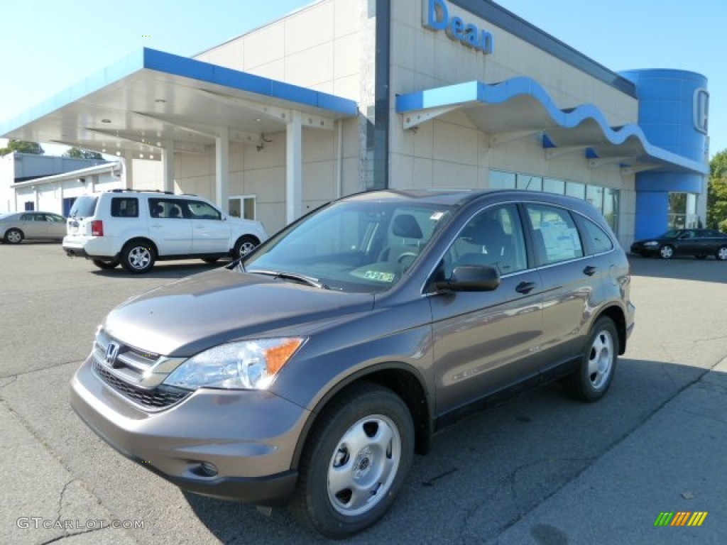 2011 CR-V LX 4WD - Urban Titanium Metallic / Black photo #1