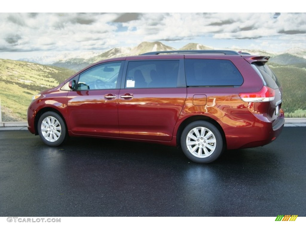 Salsa Red Pearl 2012 Toyota Sienna Limited Awd Exterior Photo 55056771