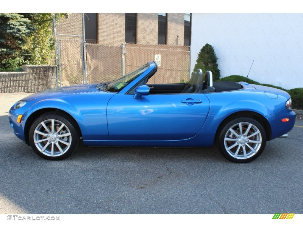 winning blue metallic 2006 mazda mx 5 miata grand touring roadster exterior photo 55084846. Black Bedroom Furniture Sets. Home Design Ideas