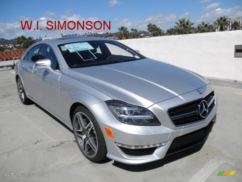 2012 iridium silver metallic mercedes benz cls 63 amg for Mercedes benz silver
