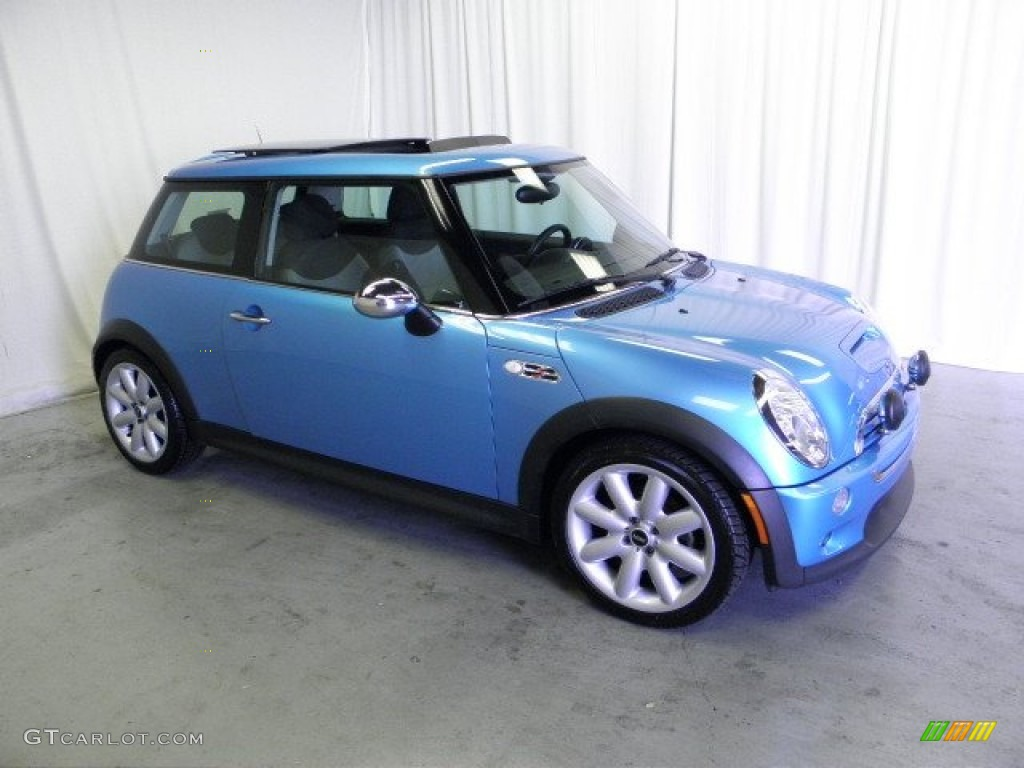 Electric Blue Metallic Mini Cooper