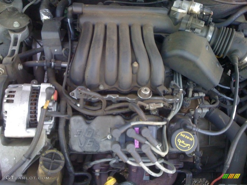 2000 ford taurus sel 3 0l dohc 24v duratec v6 engine photo. Black Bedroom Furniture Sets. Home Design Ideas