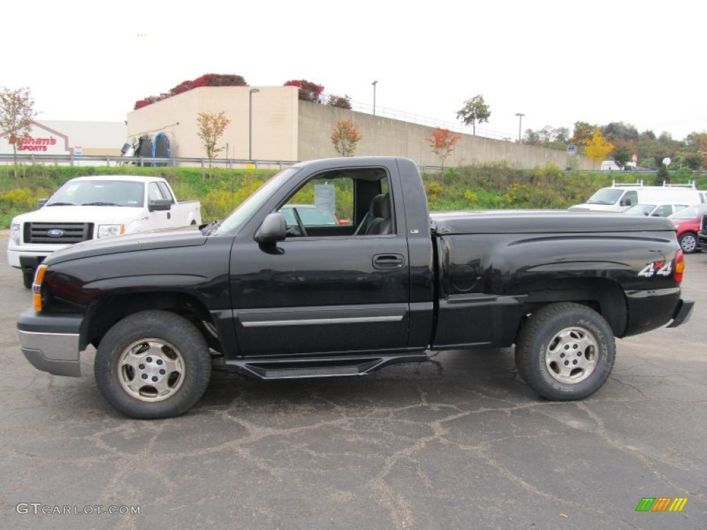 All Types single cab silverado ss : Black 2003 Chevrolet Silverado 1500 LS Regular Cab 4x4 Exterior ...