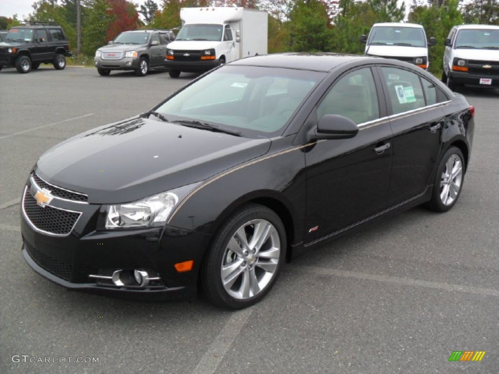 Black Granite Metallic 2012 Chevrolet Cruze LTZ/RS Exterior Photo #55130241