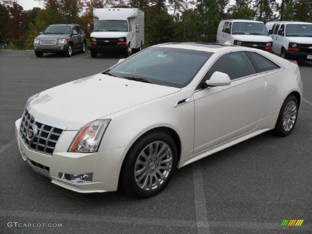 2012 White Diamond Tricoat Cadillac Cts 4 Awd Coupe