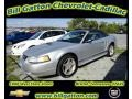 2001 Silver Metallic Ford Mustang V6 Convertible  photo #1