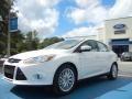 2012 White Platinum Tricoat Metallic Ford Focus SEL Sedan  photo #1