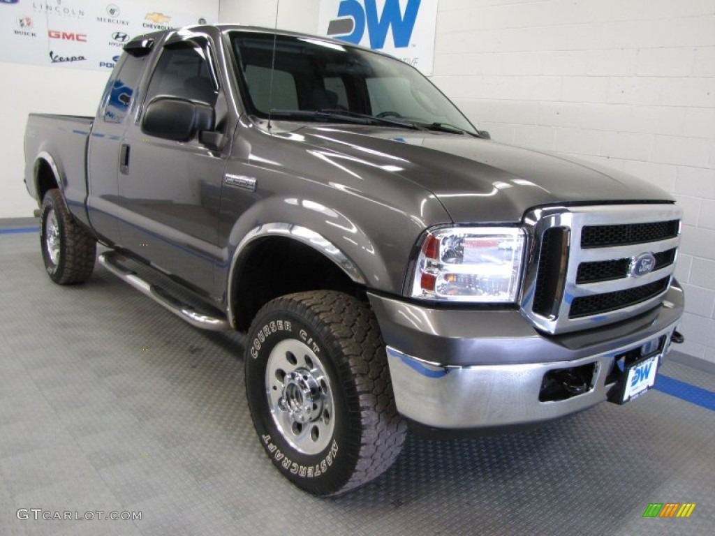 2006 dark shadow gray metallic ford f250 super duty lariat. Black Bedroom Furniture Sets. Home Design Ideas