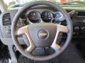 Ebony Steering Wheel Photo for 2011 Chevrolet Silverado 1500 #55151531