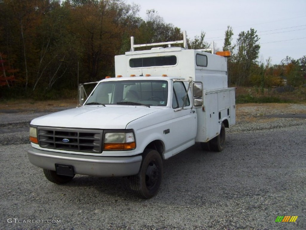 Ford F350 Regular Cab Dually >> Oxford White 1996 Ford F350 XL Regular Cab Commercial Utility Exterior Photo #55153697 ...