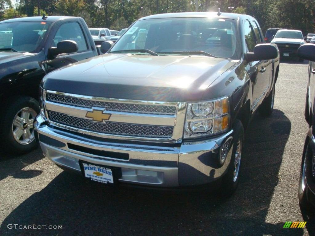 2012 Silverado 1500 LS Extended Cab - Black / Dark Titanium photo #1
