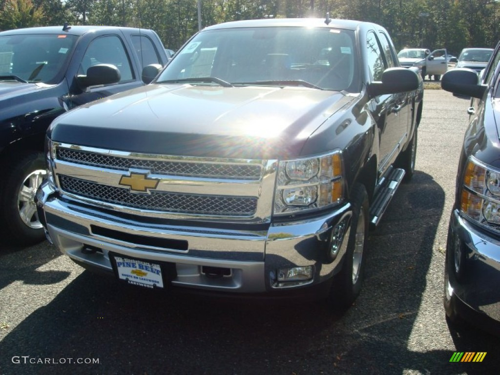2012 Silverado 1500 LT Extended Cab 4x4 - Black / Light Titanium/Dark Titanium photo #1