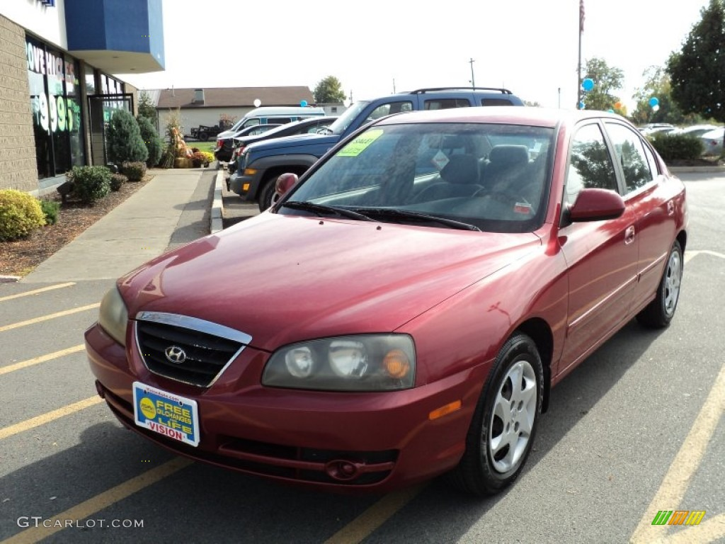 2004 crimson dark red hyundai elantra gls sedan 55138577. Black Bedroom Furniture Sets. Home Design Ideas