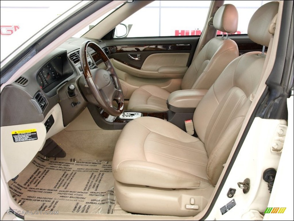 Beige Interior 2002 Hyundai Xg350 Sedan Photo  55186491