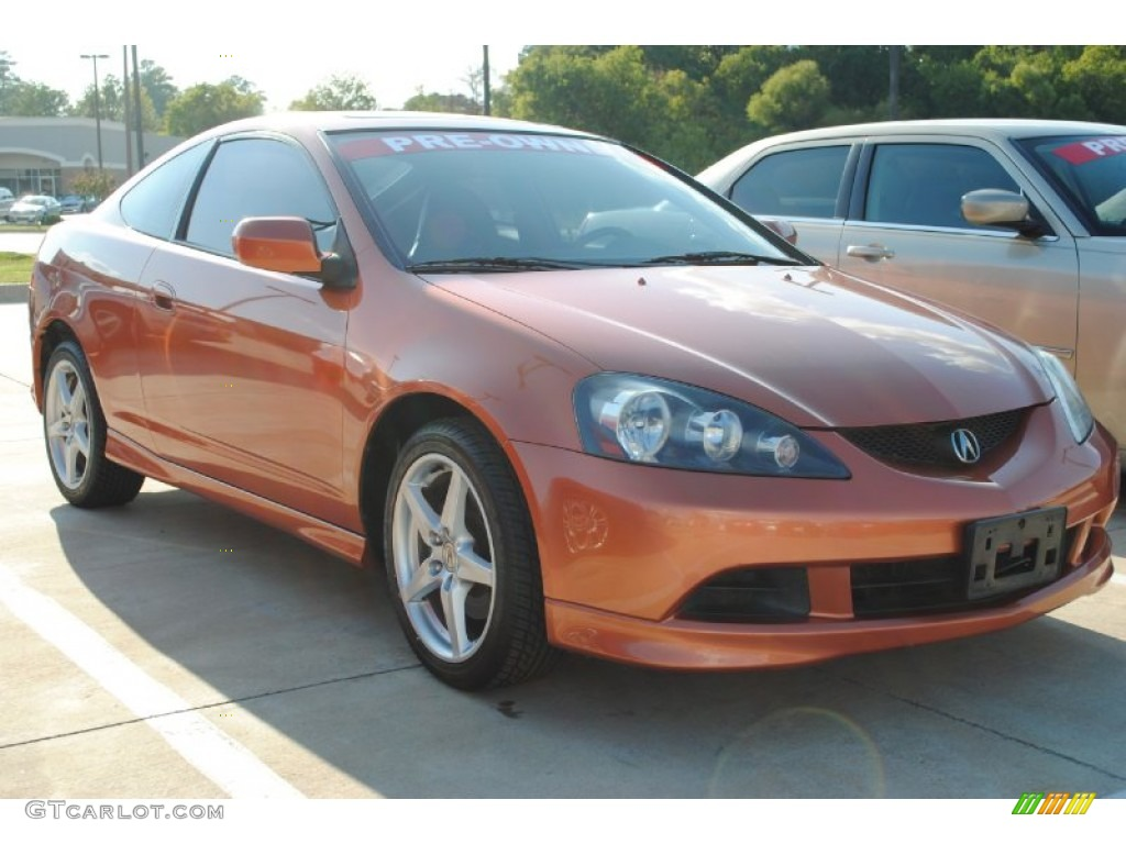 blaze orange metallic 2006 acura rsx type s sports coupe. Black Bedroom Furniture Sets. Home Design Ideas