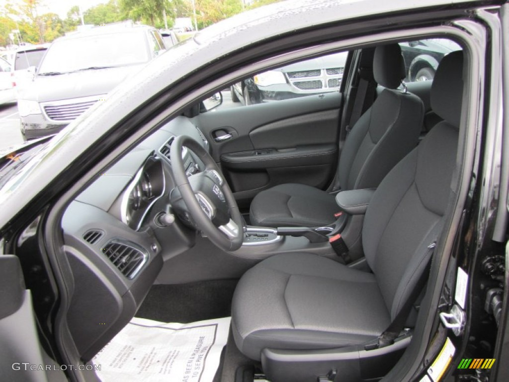 black interior 2012 dodge avenger sxt photo 55199367. Black Bedroom Furniture Sets. Home Design Ideas