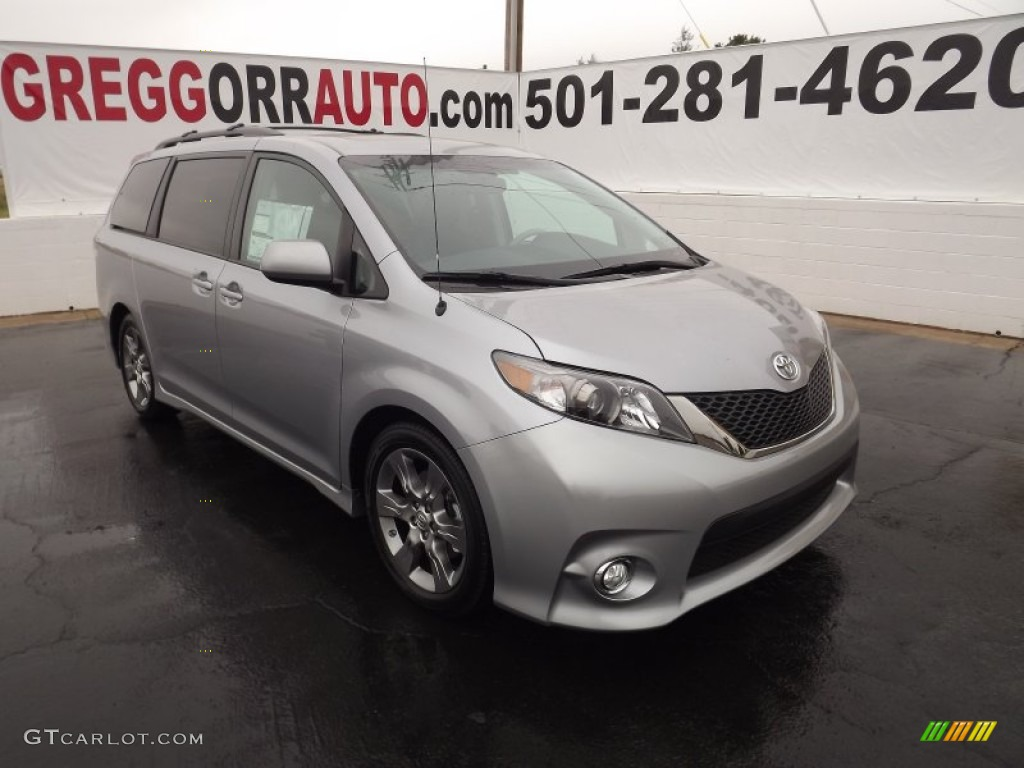 2012 Sienna SE - Silver Sky Metallic / Dark Charcoal photo #1
